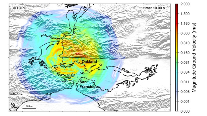 Supercomputing Potential Impacts of a Major Quake by Building Location and Size